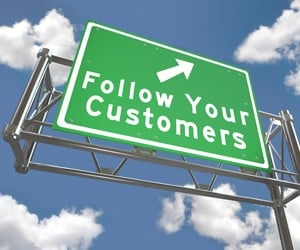 Follow Your Customers Sign